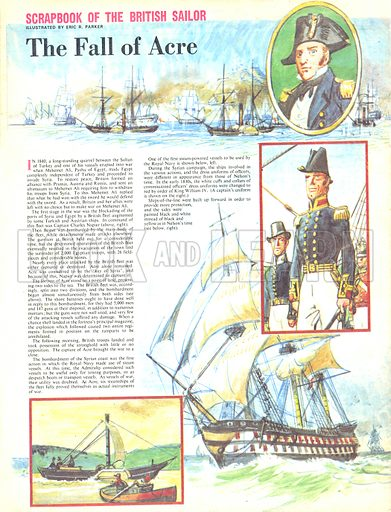 Scrapbook of the British Sailor: The Fall of Acre.