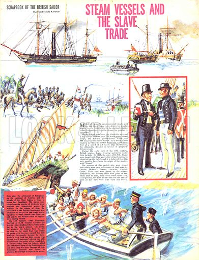 Scrapbook of the British Sailor: Steam Vessels and the Slave Trade.