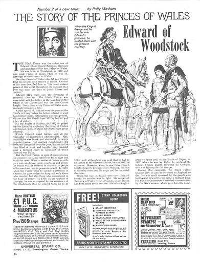 The Story of the Princes of Wales: Edward of Woodstock.