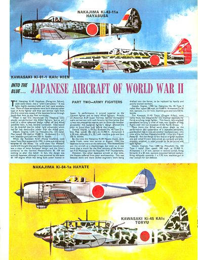Into the Blue: Japanese Aircraft of World War II.