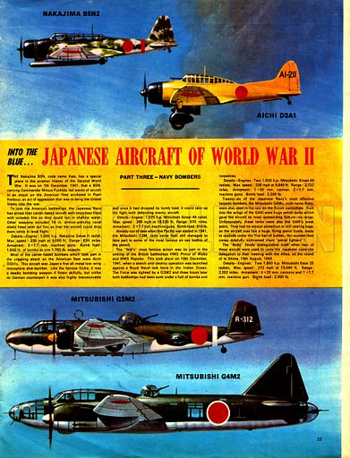 Into the Blue: Japanesse Aircraft of World War II.