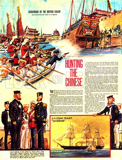 Scrapbook of the British Sailor: Hunting the Chinese.