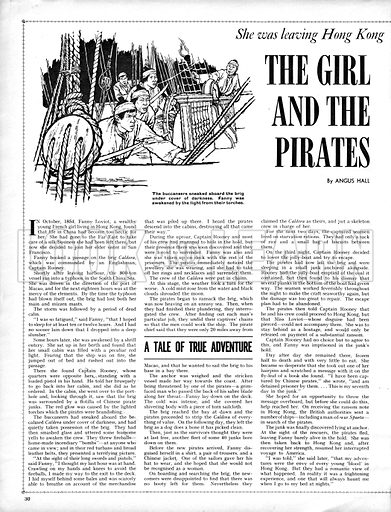 The Girl and the Pirates. How Fanny Loviot, a wealthy young French girl, was imprisoned by Chinese pirates.