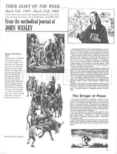 Their Diary of the Week: John Wesley.