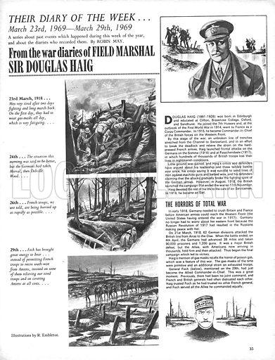 Their Diary of the Week: Field Marshal Sir Douglas Haig.