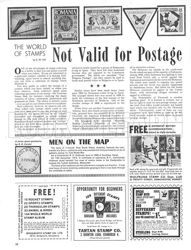 The World of Stamps: Not Valid for Postage.
