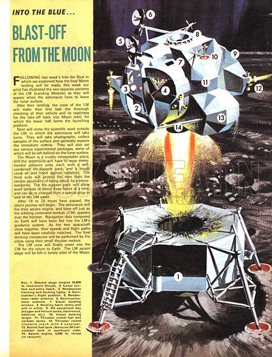 Into the Blue: Blast-off from the Moon.
