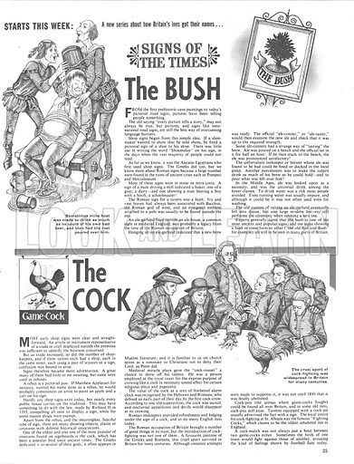 Signs of the Times: The Bush and The Cock.