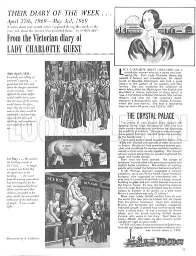 Their Diary of the Week: Lady Charlotte Guest.