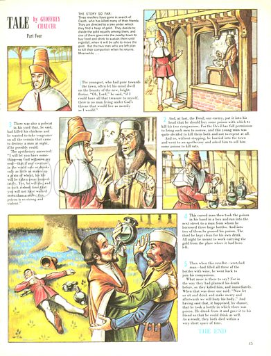 The Pardoner's Tale, from Geoffrey Chaucer's Canterbury Tales.