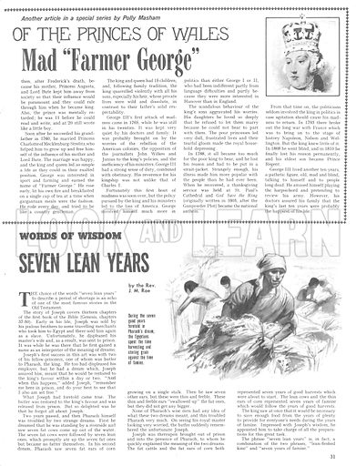 """The Story of the Princes of Wales: Mad """"Farmer George"""", plus: Words of Wisdom."""