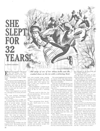 She Slept for 32 Years!.