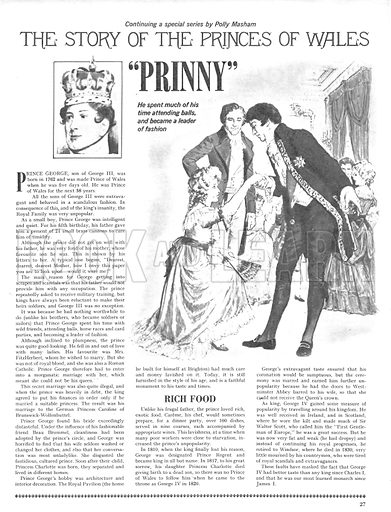 """The Story of the Princes of Wales: """"Prinny""""."""