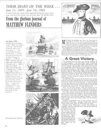 Their Diary of the Week: Matthew Flinders.