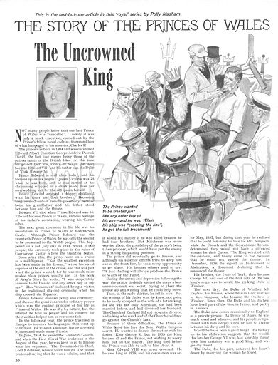 The Story of the Princes of Wales: The Uncrowned King.