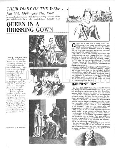 Their Diary of the Week: Queen in a Dressing Gown.