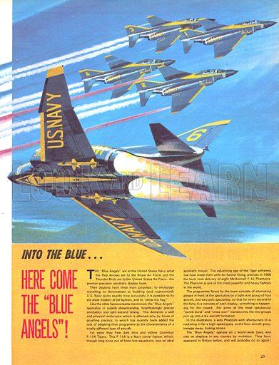 Blue Angels, picture, image, illustration