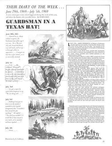 Their Diary of the Week: Guardsman in a Texas Hat.