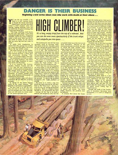 Danger Is Their Business: High Climber!.