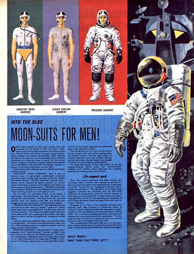 Into the Blue: Moon-Suits for Men!.
