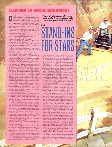Danger Is Their Business: Stand-Ins for Stars.