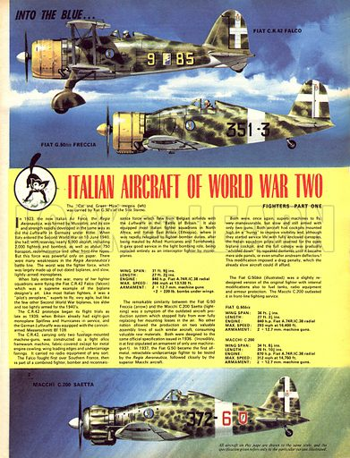 Into the Blue: Italian Aircraft of World War Two.