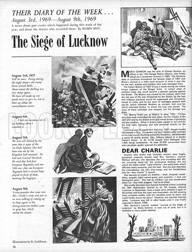 Their Diary of the Week: The Siege of Lucknow.