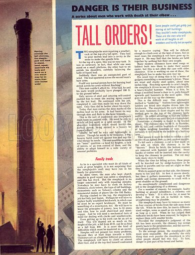 Danger Is Their Business: Tall Orders!.
