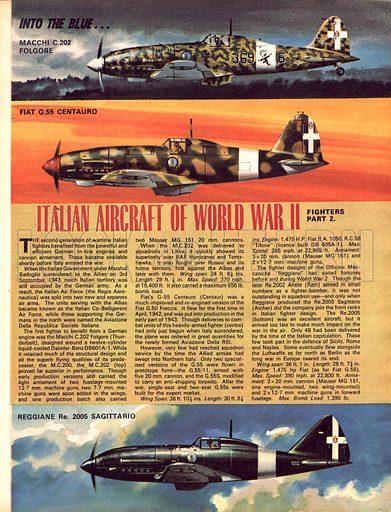 Into the Blue: Italian Aircraft of World War II.