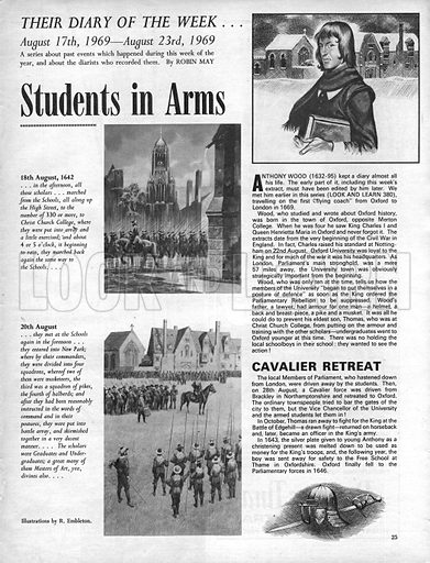 Their Diary of the Week: Students in Arms.