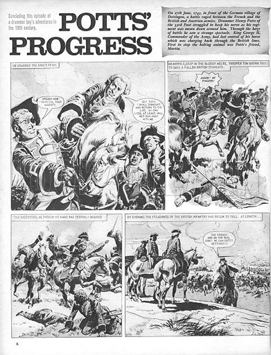 Pott's Progress, the adventures of a drummer boy in the British Army 200 years ago.