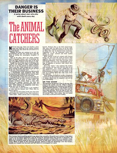 Danger Is Their Business: The Animal Catchers.