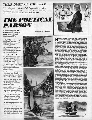 Their Diary of the Week: The Poetical Parson.