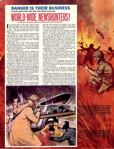Danger Is Their Business: World-Wide Newshunters!.