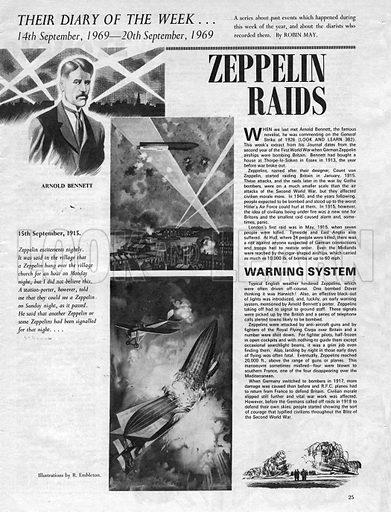 Their Diary of the Week: Zeppelin Raids.