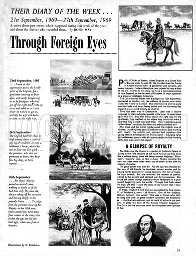 Their Diary of the Week: Through Foreign Eyes.
