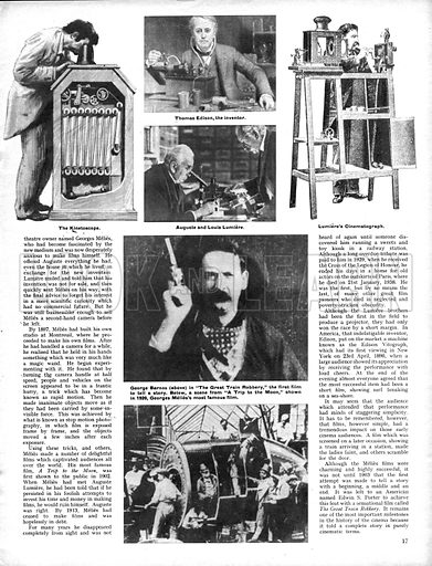 History of the Cinema: The Beginning, from Peep-hole to Projector.