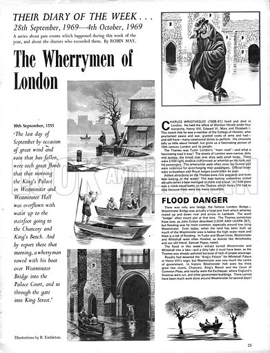 Their Diary of the Week: The Wherrymen of London.