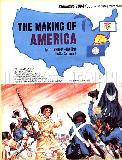 The Making of America: Virginia, the First English Settlement.