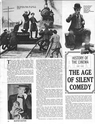 History of the Cinema: The Age of Silent Comedy.