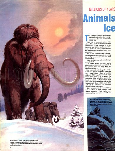 Millions of Years Ago: Animals of the Ice Age.