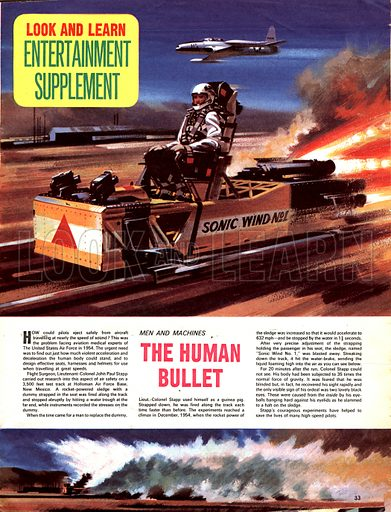 Men and Machines: The Human Bullet.