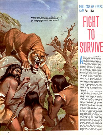 Millions of Years Ago: Fight to Survive.