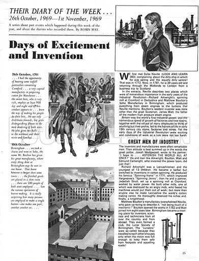 Their Diary of the Week: Days of Excitement and Invention.