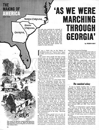 """The Making of America: """"As We Were Marching Through Georgia""""."""
