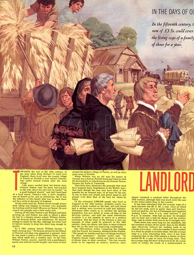 In the Days of Our Forefathers: Landlord and Tenant.