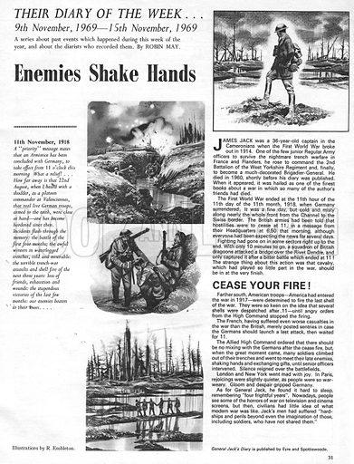 Their Diary of the Week: Enemies Shake Hands.