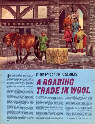 In the Days of Our Forefathers: A Roaring Trade in Wool.