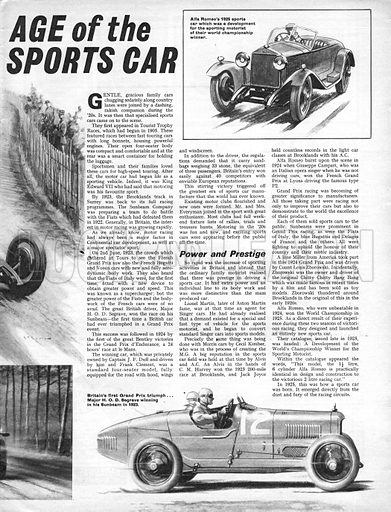 Men and Motors: Age of the Sports Car.