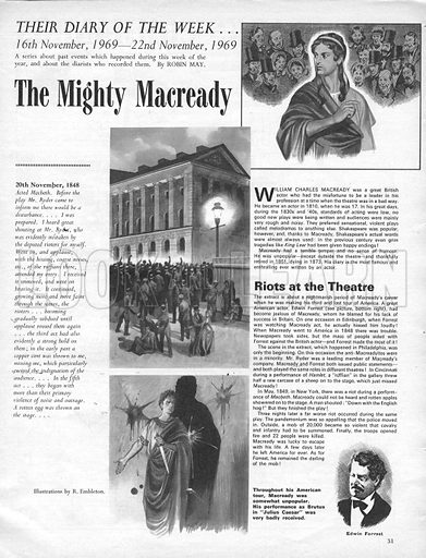 Their Diary of the Week: The Mighty Macready.